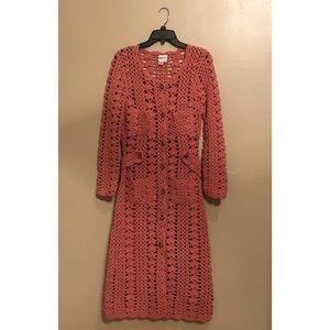 Anthropologie Tracy Reese Knit Long Sweater Coat
